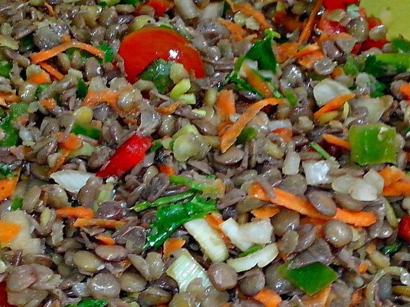 Ensalada de Lentejas - Cocina con los Rolo