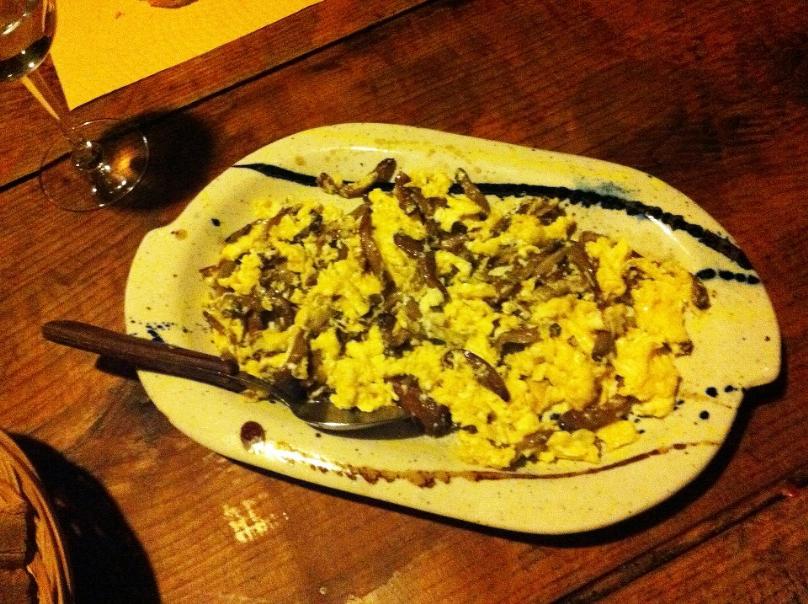 Revuelto con Setas y Gambas - Cocina con los Rolo